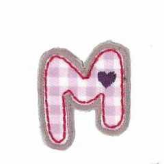 Applique Letter M