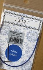 ChiaoGoo Twist Blue Seil S - 15 cm