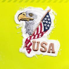 Applikation - USA-Flagge mit Adlerkopf