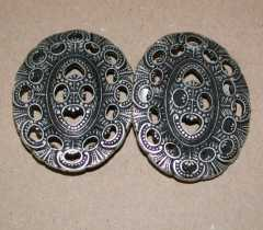 Ornament Clasp oval - 80 mm