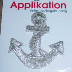 Applique Anchor - Lurex silver