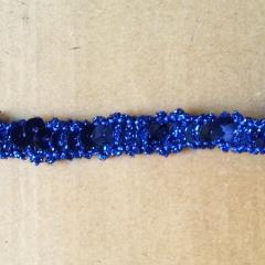 Pailettenborte glitzernd - blau
