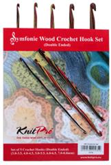 Knit Pro doppelseitige Häkelnadeln Set Symfonieholz