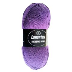 Lanartus Fine Merino Socks - 1800 lila