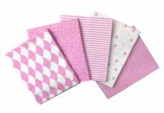 Craft Cotton Fabric Set - Nursery Pink