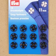Druckknöpfe 11 mm - schwarz