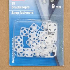 Druckknöpfe 9 mm quadratisch- Kunststoff