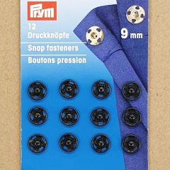 Druckknöpfe 9 mm - schwarz