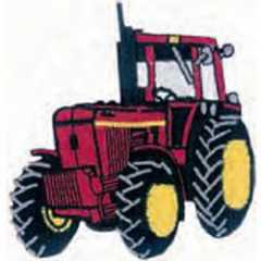 Applique Tractor - red