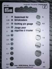 Prym Needle Gauge