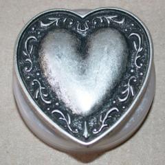 Knopf Großes Herz - Metall