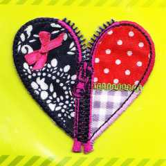 Applique Zippered Heart