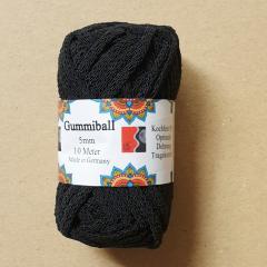 Gummiball 10 m - schwarz