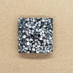 Knopf Kunststoff mit Perlmutt - 23 mm