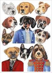 LINDNERS Kreuzstiche - I Love Dogs