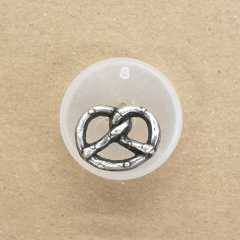 Metallknopf Brezel - 20 mm