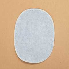 Patch oval - jeans bleached